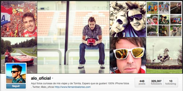 Instagram de Fernando Alonso. Toño Antonio Constantino