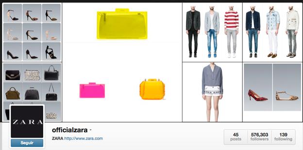 Perfil de Instagram de Zara. Toño Antonio Constantino